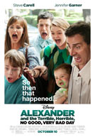 Movie poster to 'Alexander and the Terrible, Horrible, No Good, Very Bad Day'