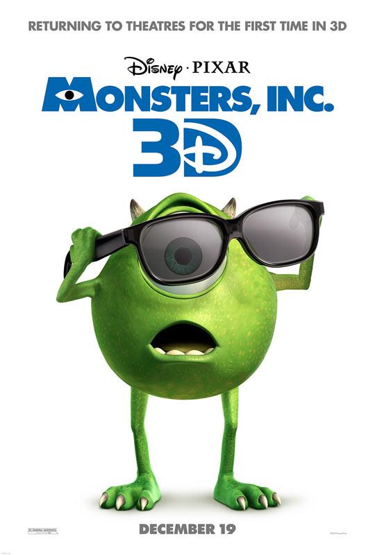 《怪兽电力公司》(Monsters, Inc. 3D)3D版重映预告