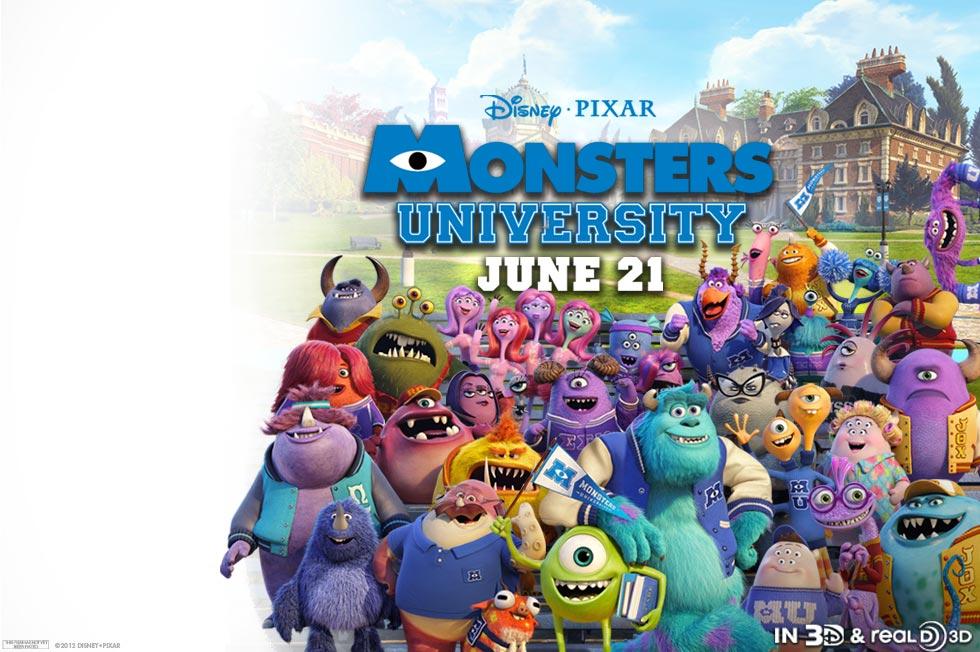 《怪兽电力公司》前传《怪兽大学》(Monsters University)先行预告片发布