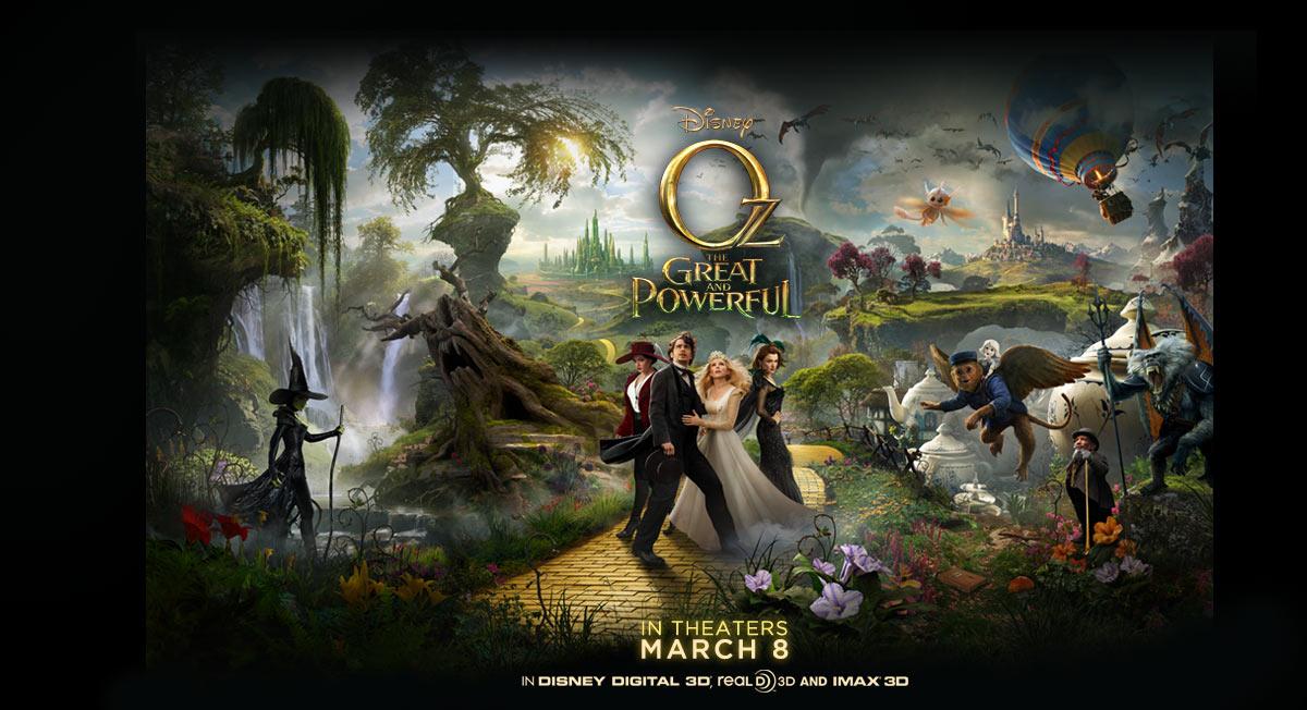 《魔境仙踪》(Oz: The Great And Powerful)全新预告片绚丽登场