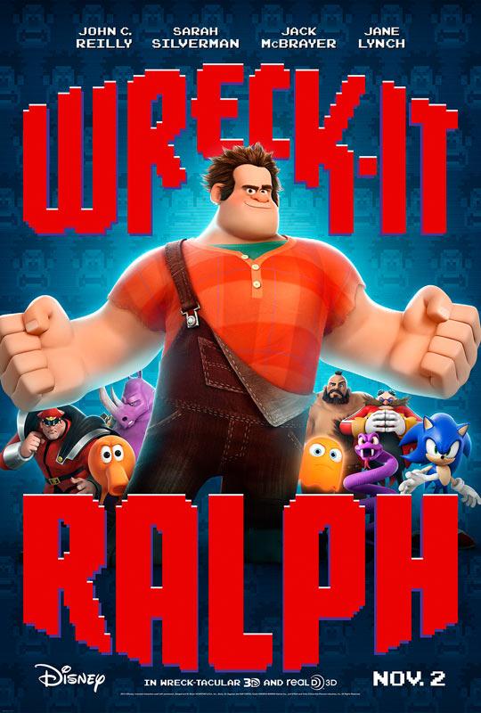 迪士尼《无敌破坏王》(Wreck-It Ralph)全长预告 绚烂串联经典游戏
