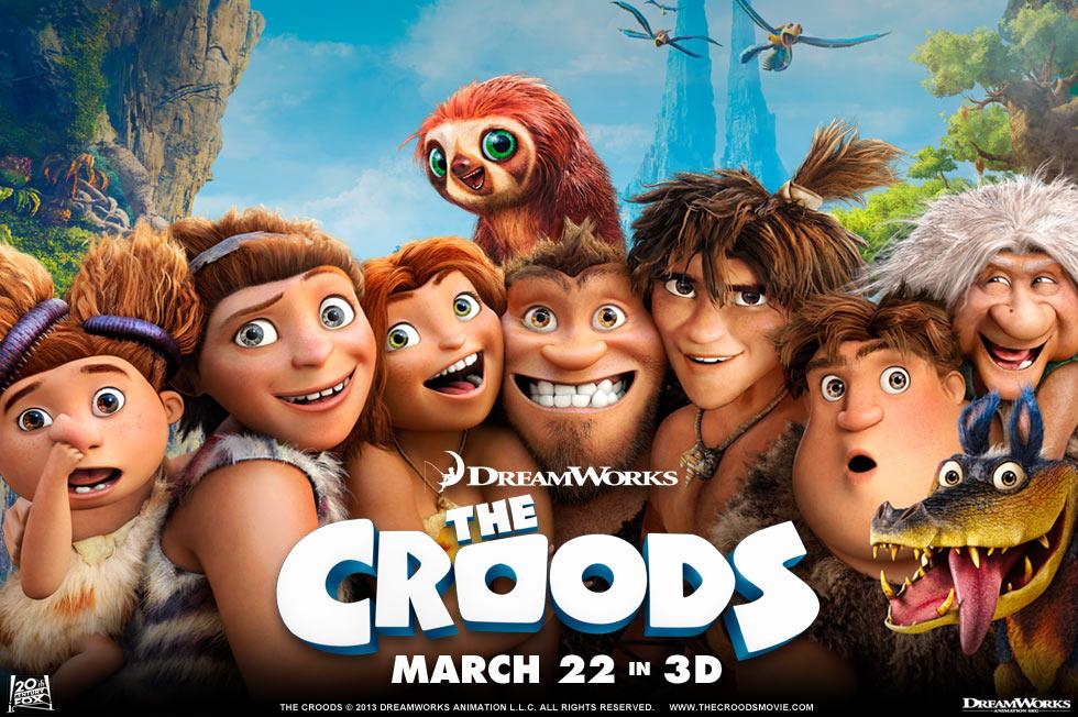 《克鲁德一家》(The Croods)曝新预告 珍禽异兽亮相笑料百出