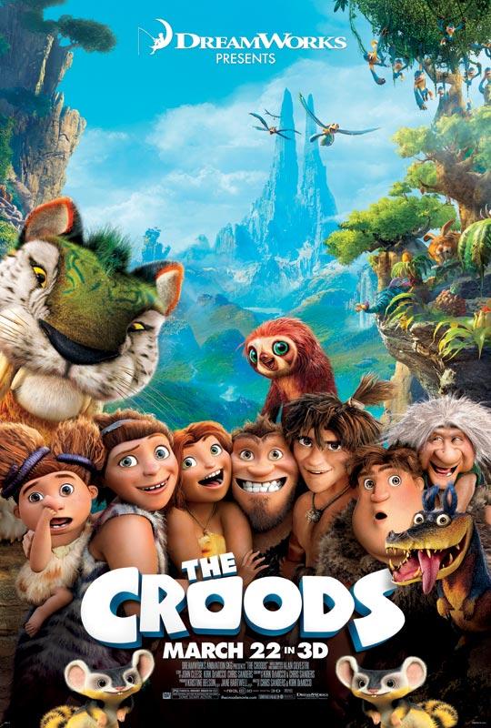 梦工厂动画片《克鲁德一家》(The Croods)动态海报