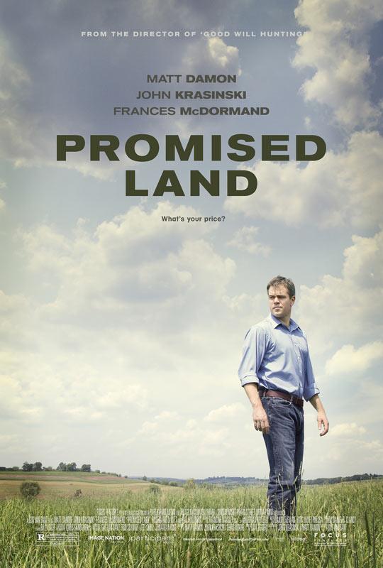 马特·达蒙《应许之地》(Promised Land)首曝海报预告 再携《心灵捕手》导演