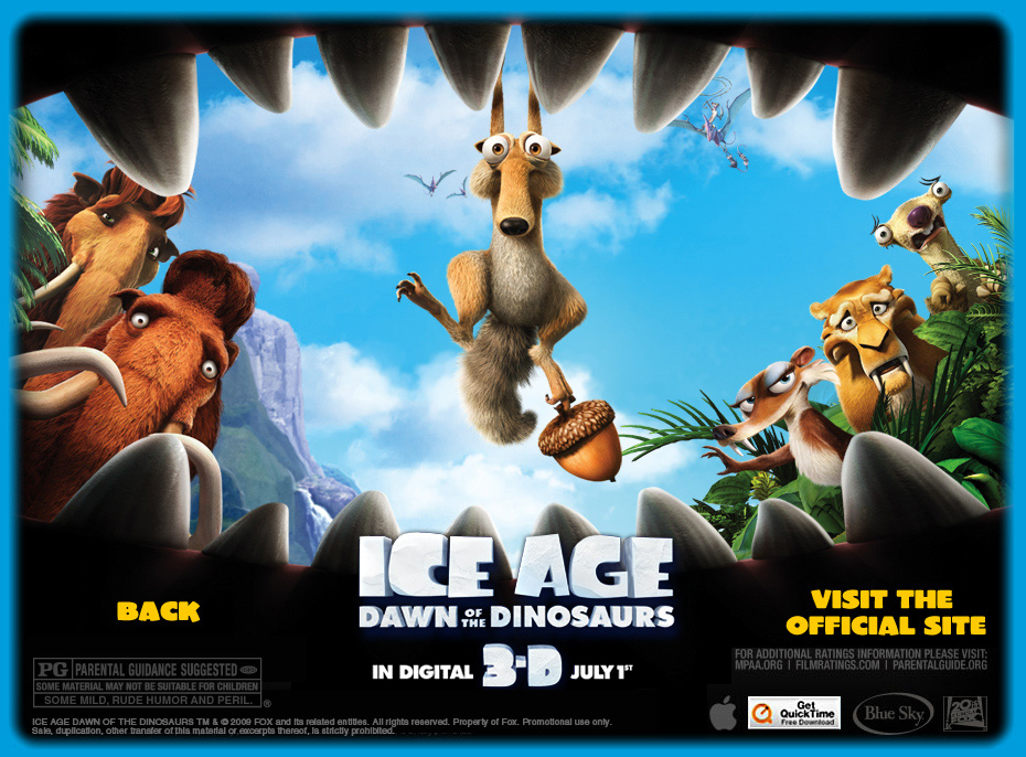 Ice Age 3 Trailer Window - Large