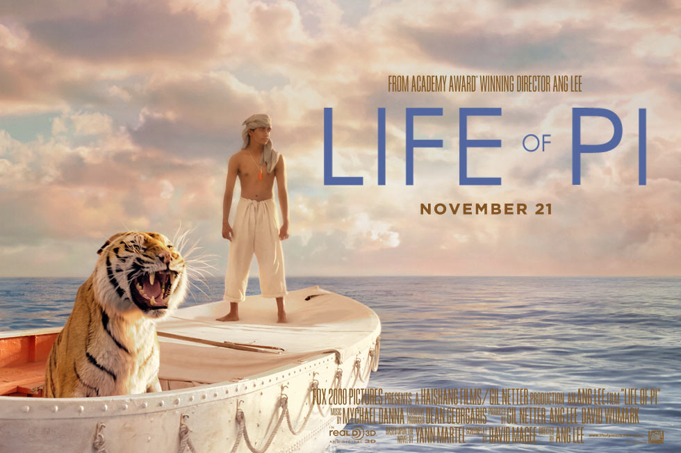 李安《少年Pi的奇幻漂流》(Life of Pi)首发预告 CG幻景谱写人虎奇缘