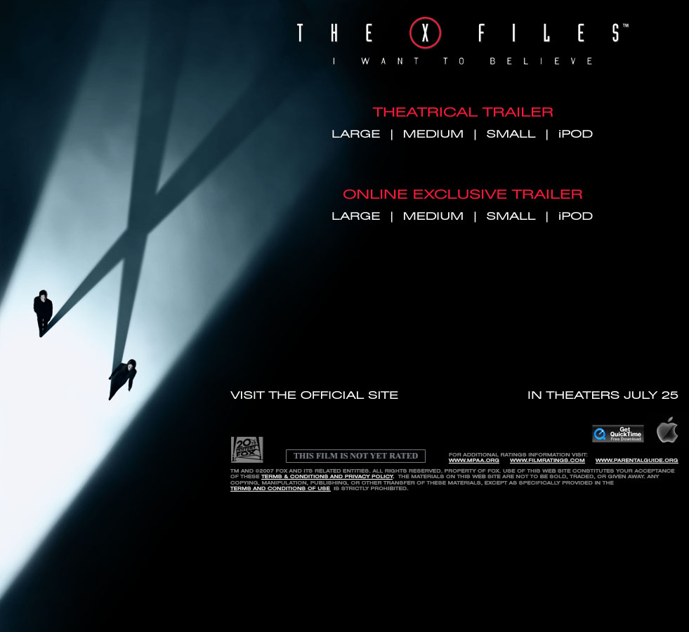 apple trailers xfiles 2 i want to believe