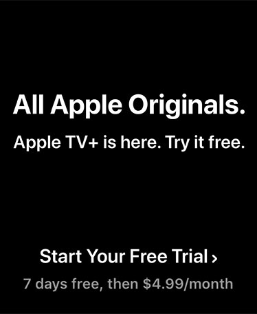 All Apple Originals. Apple TV+ is Here