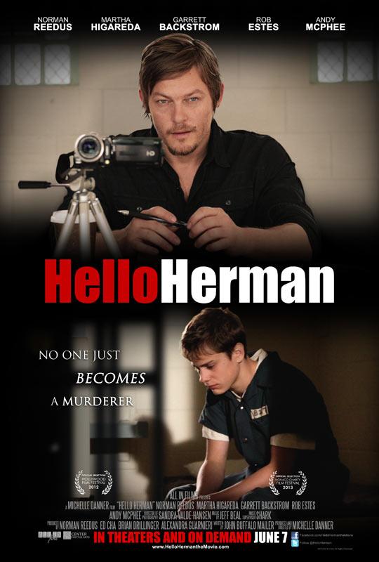 """《行尸走肉》""""努男""""诺曼·瑞杜斯 电影作品《Hello Herman》预告片"""