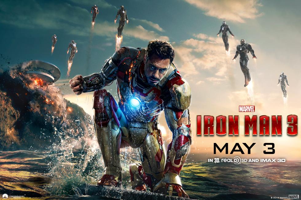 《钢铁侠 3》(Iron Man 3)首曝海报+全长预告 满大人露真容