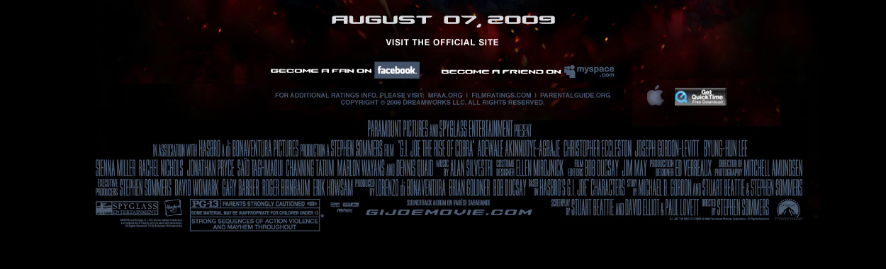 GI JOE Rise of the Cobra - In Theaters August 7, 2009