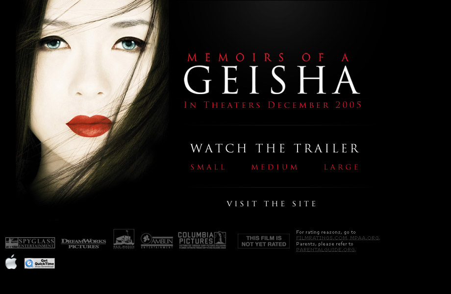 Memoirs of a Geisha : memoirssplashapple1 from trailers.apple.com size 920 x 600 jpeg 88kB